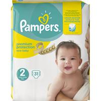 Pampers Premium Protection New Baby Size 2 Mini, 3-6kg, 31 pcs