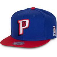 Mitchell & Ness Detroit Pistons Logo 2 Tone Snapback