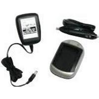 MicroBattery AC+DC Combo Charger - Batteriladdare + AC power adapter + car power adapter - för Samsung SLB-0937