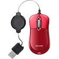 Belkin Retractable Optical Mouse Red