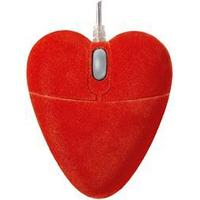 Pat Says Now Velvet Heart Optical Mouse Red