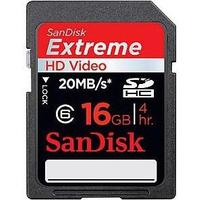 SanDisk Extreme HD Video SDHC 20MB/s 16GB