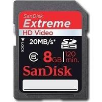 SanDisk Extreme HD Video SDHC 20MB/s 8GB