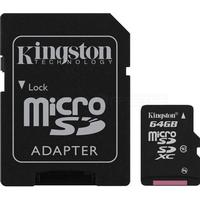 Kingston MicroSDXC Class 10 64GB