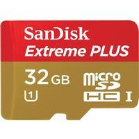 SanDisk Extreme Plus MicroSDHC UHS-I U1 32GB