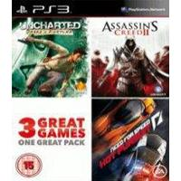 Charity Pack (Uncharted: Drakes Fortune + Assassins Creed 2 + Need for Speed: Hot Pursuit)