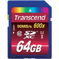 Transcend SDXC Ultimate Class 10 UHS-I U1 64GB