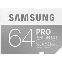 Samsung SDXC Pro UHS-I U3 90/80MB/s 64GB