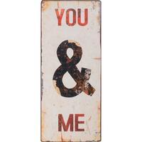 Metalskilt You & Me