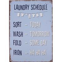 Metalskilt Laundry Schedule