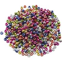 Plastpärlor Kongopärlor metallic 1000/FP