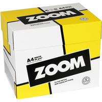 Zoom Kopieringspapper Zoom. A4 80g. Hålat. 2500 ark/förp.