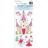 RoomMates 1 ark med wallstickers - prinsesseslot