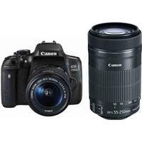 Canon EOS 750D + 18-55mm IS STM + 55-250mm IS STM