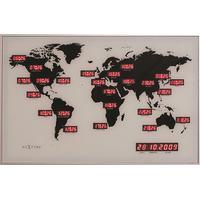 Nextime World Time Digit 55cm Vægur