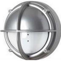 LK Skotlampe LED 8,5w 3000K, halvafskærmet klar, aluminiumsfarvet