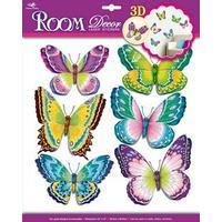 3D Wallstickers med sommerfugle