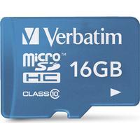 Verbatim Tablet MicroSDHC Class 10 16GB