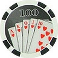 Royal Flush Svart 100 (25-pack)