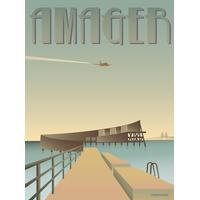 Vissevasse Amager Sneglen 30x40cm Plakater