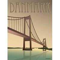Vissevasse Denmark Little Belt Bridge 30x40cm Plakater