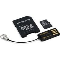 4GB micro SDHC kort + USB adaptor + SD adaptor
