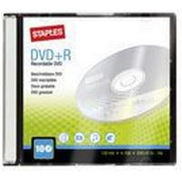 Staples Tom DVD+R 4,7 Gb / 120 min. 16 X hastighed, 10 diske i etui