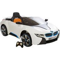 Børne el bil BMW I8 Concept 12V med fjernbetjening til styring.