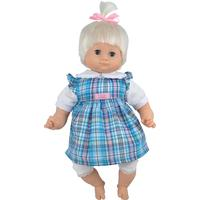 Skrållan Lillan Taldocka Rutig klänning 36 cm