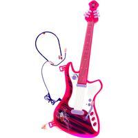 SUPERSONIC Gitarr Med Headset Rosa/Vit/Lila