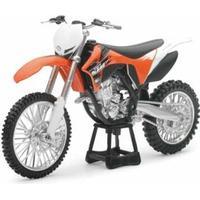 Junior Driver Die Cast Motorcycle Orange 1:12