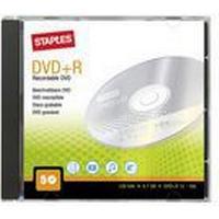 Staples Blank DVD+R 4,7 Gb / 120 min 16 X hastighed, 5 diske i etui