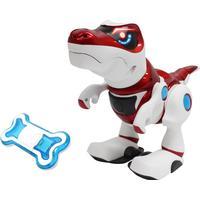 Teksta Robotdinosaurie T-Rex Vit/Röd