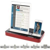 Multifunktion opladning & højtaler - Stand Rød
