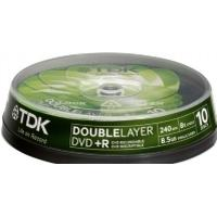TDK DVD+R 8.5GB 8x Spindle 10-Pack