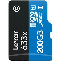 200 GB Micro SD Kort (C10) - Lexar (633x / 95 MB/s)
