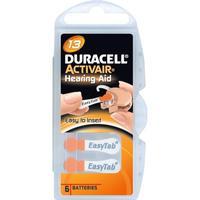 Duracell ActivAir 13 Hörapparatsbatterier, 6 st