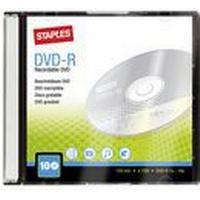 Staples Tom DVD-R 4,7 Gb / 120 min. 16 X hastighed, 10 stk. i etui