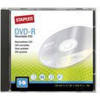Staples Tom DVD-R 4,7 Gb / 120 min. 16 X hastighed, 5 diske i etui