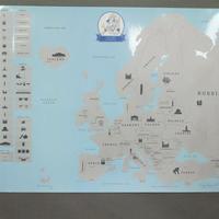 Gemmas Scratch map / Skrapkarta Europa