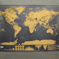 Skrabekort - Verdenskort plakat