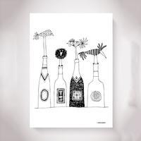 Olle Eksell Wine 50x70cm Plakater