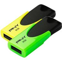 PNY N1 Attache Twin Pack 8GB USB 2.0