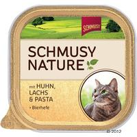 Schmusy Nature - Chicken Salmon Pasta & Lgær 6x100 g