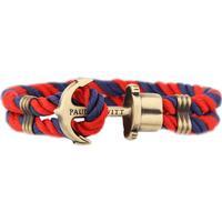 Paul Hewitt Phrep Nylonarmband 18cm - Marinblå/Röd/Mässing
