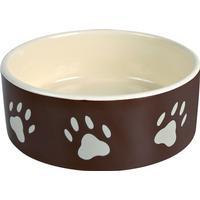 Trixie Ceramic Feeding Bowl with Paw Motif 12cm