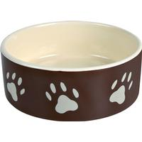 Trixie Ceramic Feeding Bowl with Paw Motif 20cm