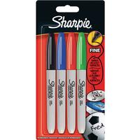 Sharpie Fine Marker 4-pack Basic