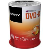 Sony DVD-R 4.7 GB 16x Spindle 100-Pack