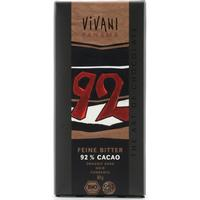 Vivani Mörk Choklad med 92% Kakao 80g
